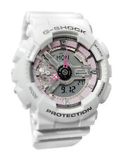 Casio GMAS110MP-7A G-Shock DIGITAL White PINK Unisex Watch