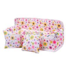 Mini Mobili Fiore Divano Divano due cuscini per Doll House Accessori