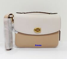 NWT COACH 73725 Cassie Crossbody in Colorblock With Snakeskin Detail~Chalk Multi