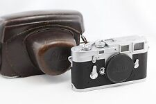 "*EXC++* Leica M3 Double Stroke Silver chrome 35mm Rangefinder Camera body ""SEAL"""