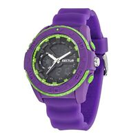 OROLOGIO UNISEX SECTOR,EXPANDER,STREET,CHRONO,DUAL TIME,ANALOGICO DIGITALE,VIOLA