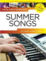 Really Easy Keyboard Summer Songs Learn to Play Beginner Hits PIANO MUSIC BOOK