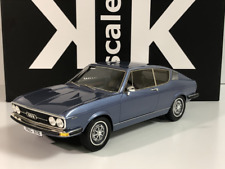 1971 Audi 100 S Coupe Blue 1:18 Scale KK Scale 18001 Limited Edition