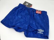 """Umbro Youth Soccer 3"""" Short Checkered Blue XS (6-8)  SHORTER INSEAM 5 Pairs Lot"""