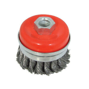 65mm Twist Knot Wire Cup Brush Paint Rust Removal Prep Tool for Angle Grinders