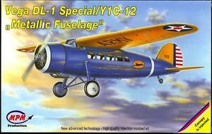 MPM Models LOCKHEED VEGA DL-1 SPECIAL Y1C-12 Metallic Fuselage Version
