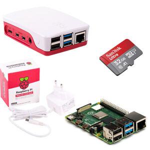 Raspberry Pi 4 Modell B 4-8GB Bundle Set offiz.Teile+Gehäuse+Netzteil+16GB-32GB