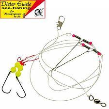 Brandungssystem Dieter Eisele Select Vorfach clown gelb 110cm 0,40mm 1//0
