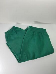 Vtg Hanes Sport Small Sweatpants Green 50/50 NWOT NOS DEADSTOCK