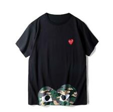 New Men's Japan Tops Big Red Heart Short Cotton Comfortable T-Shirts2Colors