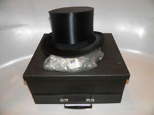 Antiker Zylinder Hut Chapeau Claque Klappzylinder Top Hat Gr 59 Umtauschabgebot