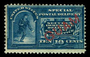 "US 1899  SPECIAL DELIVERY - ""GUAM"" overprinted 10c blue Scott # E1 mint MH"