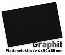 Graphitplatte 50 x 80 mm Graphitelektrode Graphit Elektrode Anode Graphitanode