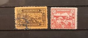 SPITSBERGEN  (NORWAY) (3555) Nice two items  (Used)
