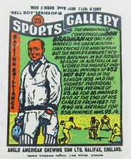 """.c1960 RARE DON BRADMAN ANGLO AMERICAN CHEWING GUM LTD """"SPORTS GALLERY"""" WRAPPER."""