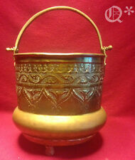 Antique Islamic engraved and inlaid Classic brass Pot