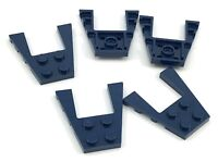 Lego Lot of 5 New Dark Blue Wedges Plates 4 x 4 Pieces