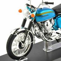 Diecast 1/12 Honda Dream CB750 Four Blue Motorbike Model Car Aoshima Motorcycle