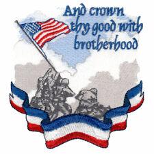 Custom Embroidered Military Patriotic Brotherhood Soldier Bath Hand Towel Set