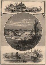 NEW YORK CITY. Prospect Park, Brooklyn 1874 old antique vintage print picture