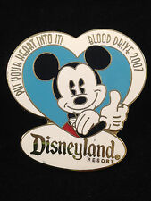Disney DLR - CM Cast Member Blood Drive 2007  Pie-eyed Mickey Mouse Pin