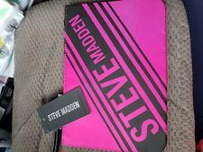 STEVE MADDEN WRISTLET POUCH WOMEN'S TRAVEL CASE BAG PINK LOGO FLAT POUCH