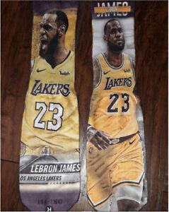 *Custom LeBron James Laker socks