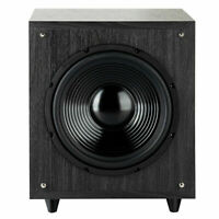 "10"" 400W Powered Active Subwoofer Front-Firing Woofer Surround Sound Home Black"