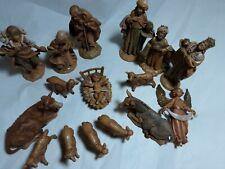 Fontanini by Roman Depose Italy Nativity Set 16pc Set Preowned No Creche.
