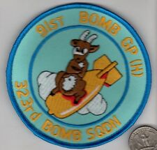 US Army Air Corps Air Force 91st BOMB GROUP 323 Squadron WWII Veteran Patch wing