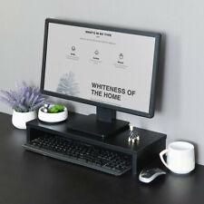 Desktop Computer Riser Monitor Stand Laptop TV Office Desk Organizer Bamboo BK