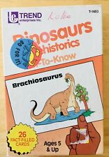 Dinosaurs Set Of 26 Laminated Fact Cards Learning Teacher Classroom Home School