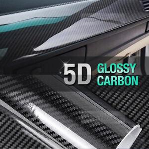 "7.8""x11"" Ultra Shiny 5D High Glossy Carbon Black Fiber Decal for Mercedes BENZ"