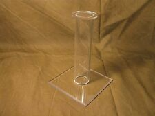 "TWELVE Acrylic 6"" Military Civil War Hat & WW2 Helmet Display Stands prop"