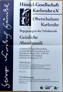 GERMAN MUSIC POSTER 2001 - GEORG FRIEDRICH HÄNDEL SPIRITUAL EVENING MUSIC * ART