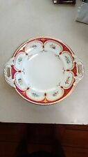 English Porcelain Cold Meat Platter Hand Painted Flowers