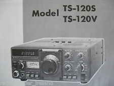 KENWOOD (TRIO)TS-120S/V (GENUINE INSTRUCTION MANUAL ONLY)..RADIO_TRADER_IRELAND.