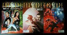 3 Farscape comics Strange Detractors, Issues #1 cover A, #3 cover B, #4 cover A