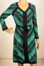 $198 NWT BCBG MAXAZRIA SEA GREEN COMBO JERSEY DRESS XS