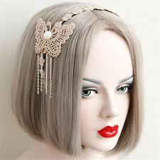 Handmade Lolita Fairy Lace Butterfly Chain Headband Prom Party Cosplay Hairband
