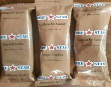 3 MRE STAR Desserts/Military Meal/Survival Food:  Sugar Cookies