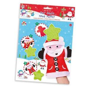 Christmas Make Your Own Felt Santa Hand Puppet Kids Sewing Craft Activity Kit