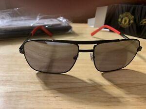 Manchester United Maui Jim Compass Sunglasses - Black/Silver