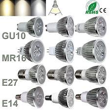 1-10X Bombillas Foco LED Regulable GU10 MR16 E27 E14 9W 12W 15W 110V 220V Lámparas