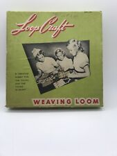Vintage Loop Craft Weaving Loom W/ Original Instructions Book Nelly Bee Products
