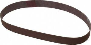 "Precision  Sanding Belts: 3/8"" x 18"", 80g.  Aluminum Oxide (5ea)"