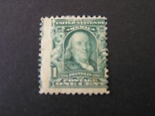 UNITED STATES, SCOTT # 300, fRANKLIN 1902-03 HISTORICAL FIGURE ISSUE MH
