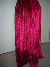 bright red custom made velvet skirt 10 12 24 16 18 20 22 24 26 28 30 32 34 36