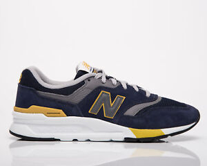 New Balance 997H Men's Navy Varsity Gold Low Casual Lifestyle Sneakers Shoes