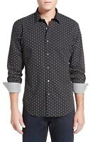 BUGATCHI Shaped Fit Print Sport Shirt NWT Black White NWT